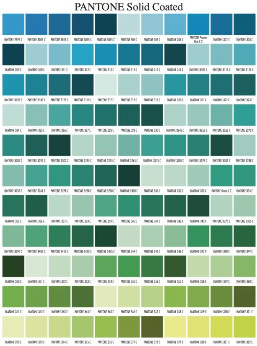 Pantone Color Chart Visual Matter Pantone Color  Palettes