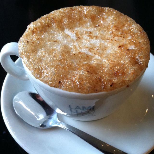 Creme brulee hot drink. (La Mill)
