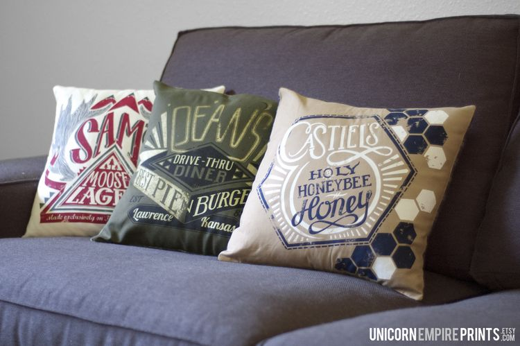 Bedroom Various Fandom Themed Pillow Covers Pillows