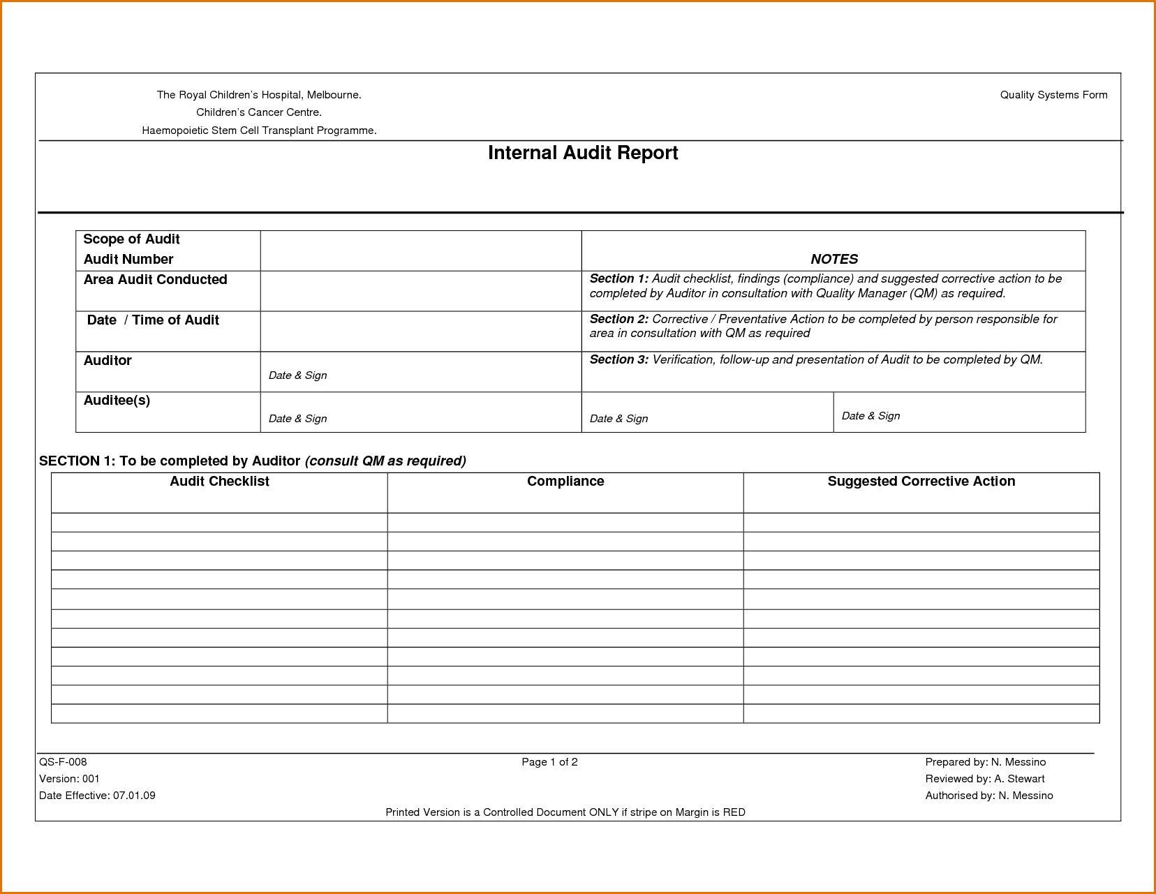 Sample Internal Audit Report Kpmg And Findings Philippines Inside Iso 9001 Internal Audit Report Template Best Template Internal Audit Audit Report Template