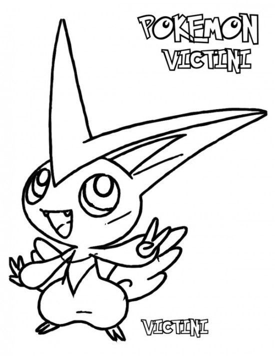 Pokemon Victini Coloring Pages
