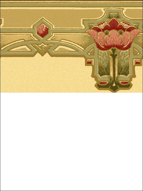 Repro Arts Amp Crafts Wallpaper Border Craftsman Wallpaper