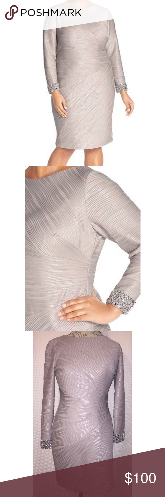 Eliza j classy embellished dress