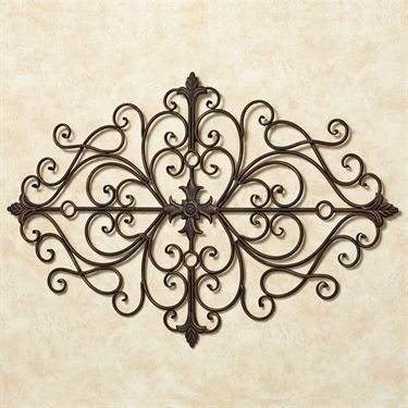 Ansovino Scrolling Antique Bronze Wall Grille Wall Grille Gold Walls Medallion Wall Art