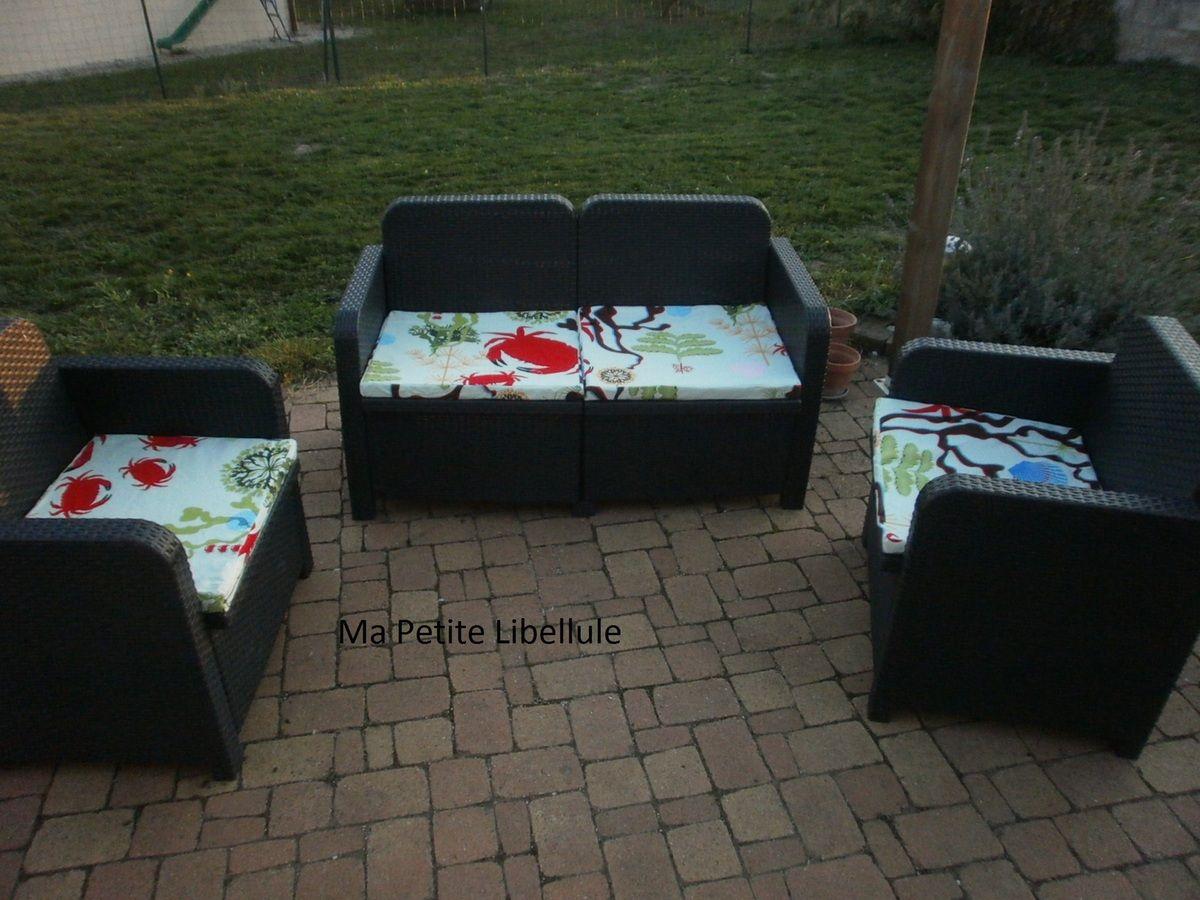 DIY :faire de jolies housses pour son salon de jardin ...