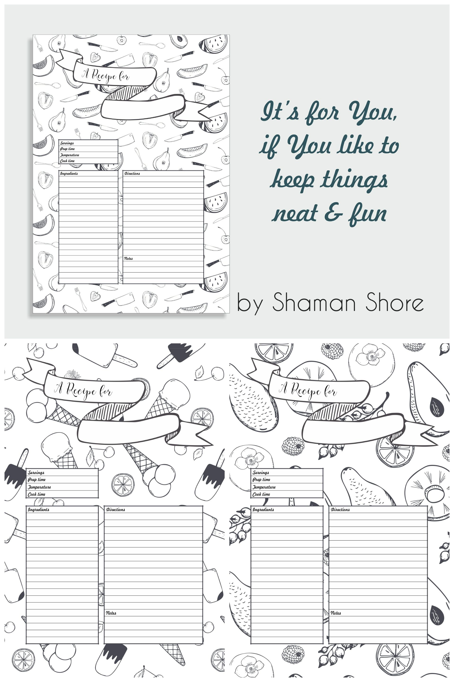 a4 recipe card template fun recipe page template 8 x 11