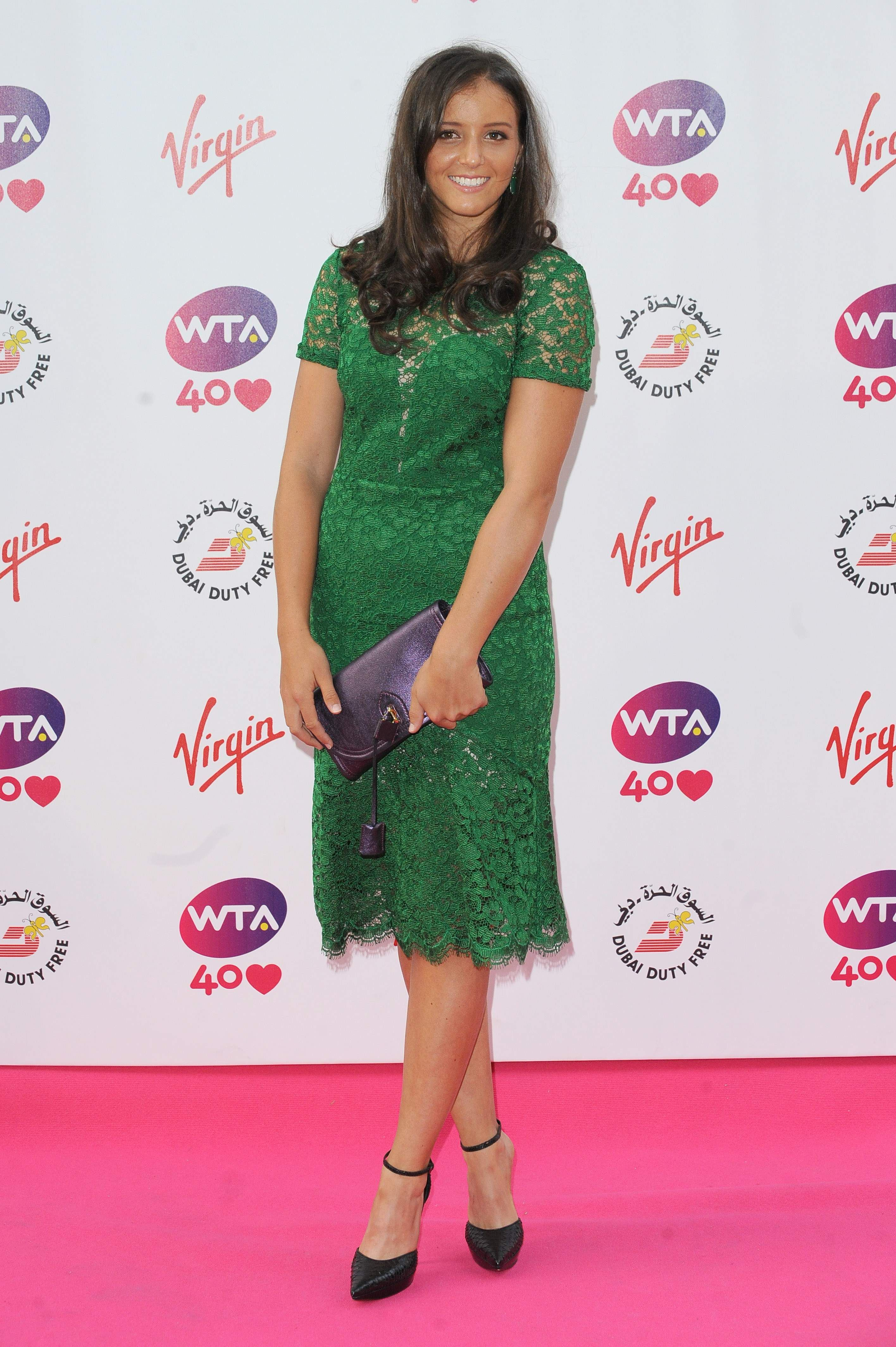 Laura Robson Pre Wimbledon Party Held At The Kensington Roof Gardens June 20 2013 Wta Wimbledon Party Cocktail Dress Lace Fashion