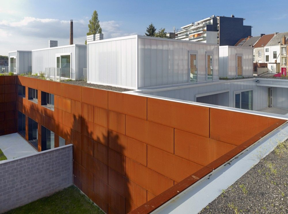 Gallery Of Apartments Buso Dmva 2 Architecture Corten Steel Urban Concept