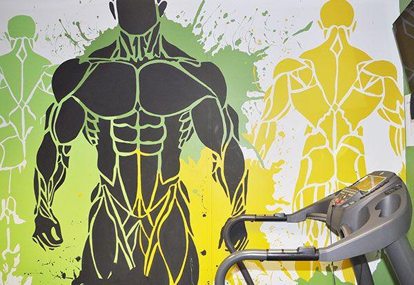Gym art wall yellow google search my gym gym wall art gym images
