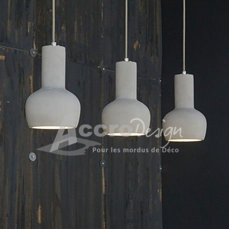 Luminaire suspendu design en b ton suspension design for Lustre suspendu design