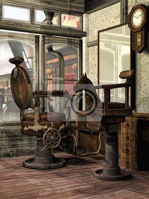 Papier Peint Oriental Salon De Coiffure Rétro Pixers Nous
