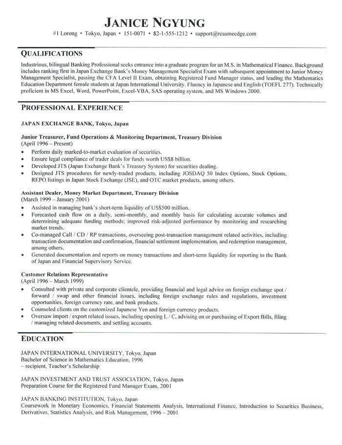 graduate school admissions resume in 2020 Resume for