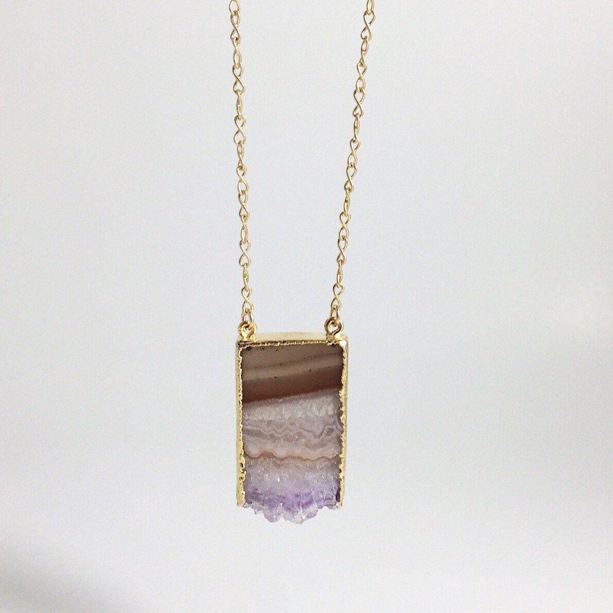 "Gold Amazing ""Grace"" Amethyst Stalactite Double Bail Pendant Necklace by ALEPHTAVJEWELRY on Etsy https://www.etsy.com/listing/214545120/gold-amazing-grace-amethyst-stalactite"