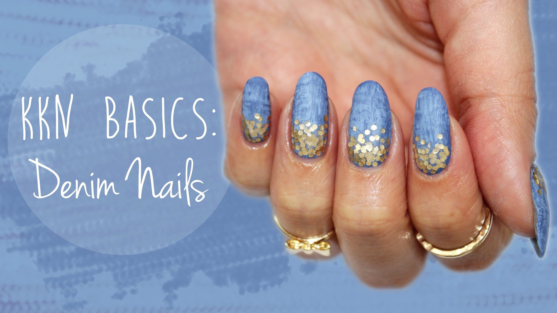 KKN Basics  Denim Nails ♡   nails   Pinterest   Style nails