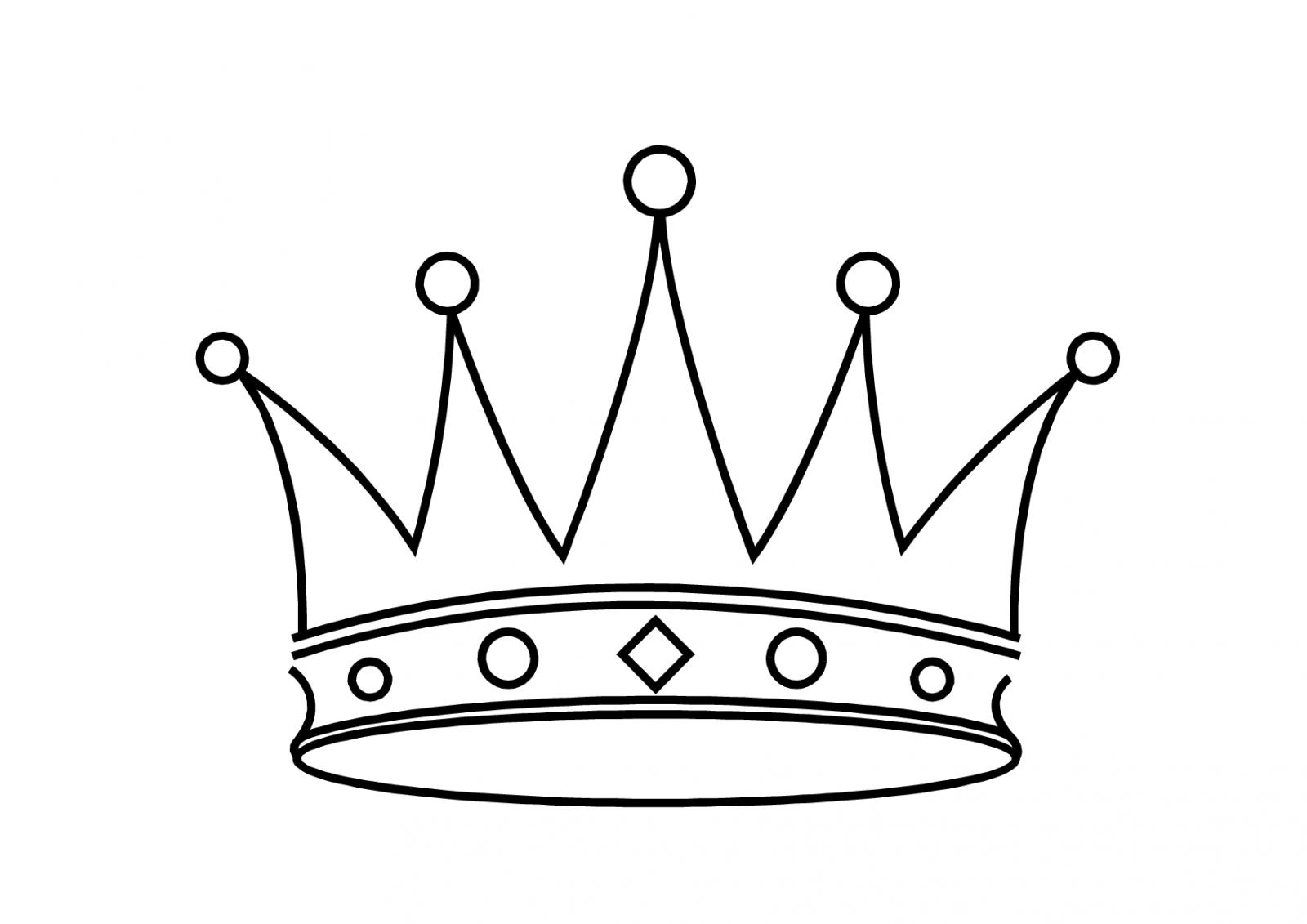 Dibujos Para Colorear De Coronas Imagui Corona Crown Template