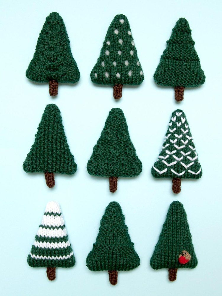 Christmas Trees 2 Knitting Pattern By Squibblybups Christmas