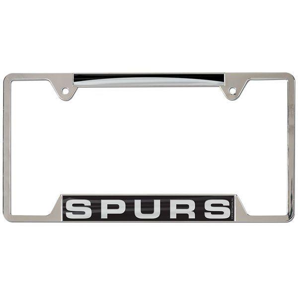 San Antonio Spurs WinCraft 4-Tab Style Inlaid Metal License Plate Frame