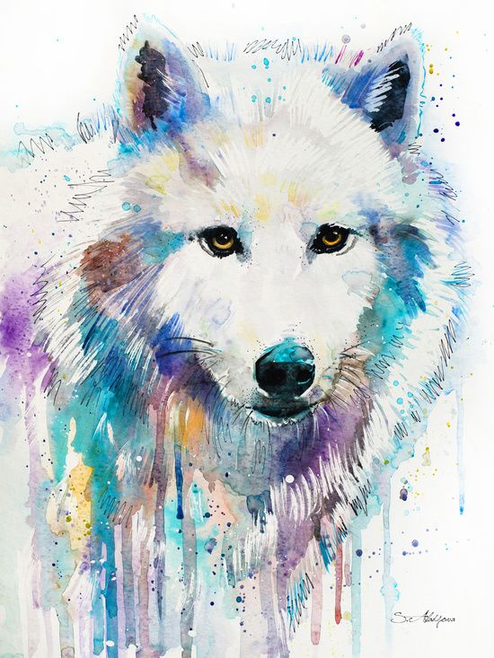 753e33594 Arctic Wolf Art Print by Slaveika Aladjova Watercolor Art, Watercolor Wolf  Tattoo, Watercolor Animals