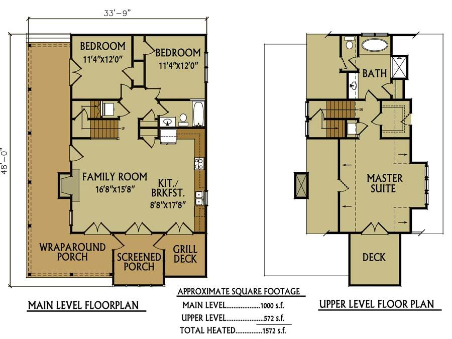 3 Bedroom Small Sloping Lot Lake Cabin By Max Fulbright Rustic House Plans Small Rustic House Garage House Plans