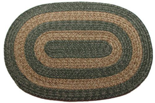Ohio Country Sage Brown Oval Braided Rug 2 X 4 By Stroud Braided Rugs 55 20 American Made Reversible And Fade Resistant Braided Rugs Rugs Outdoor Rugs
