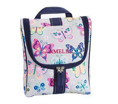 29ee8a3a0611 Mackenzie Gray Rainbow Butterfly Toiletry Bag