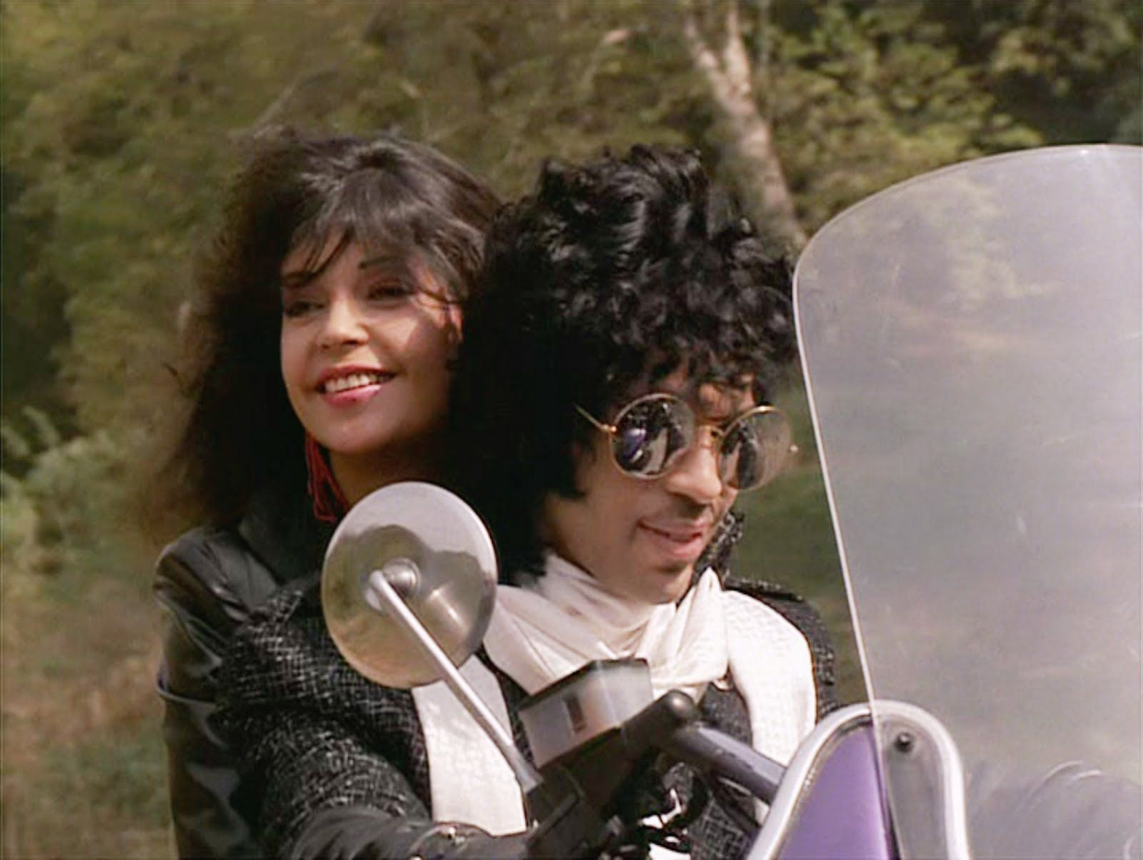 Image result for prince and apollonia on purple bike