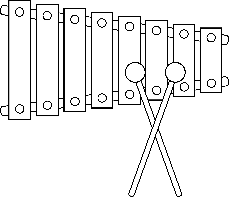 Xylophone Line Art Free Clip Art Free Clip Art Line Art Free Art
