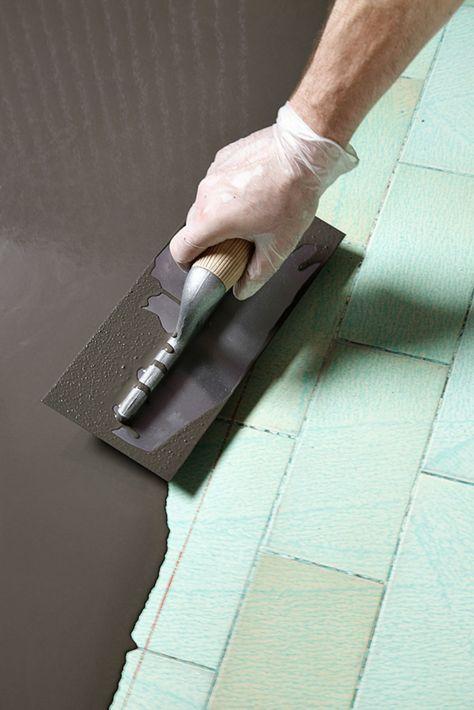 Faire un sol en béton ciré sur du carrelage Construction - peinture sol sur ragreage