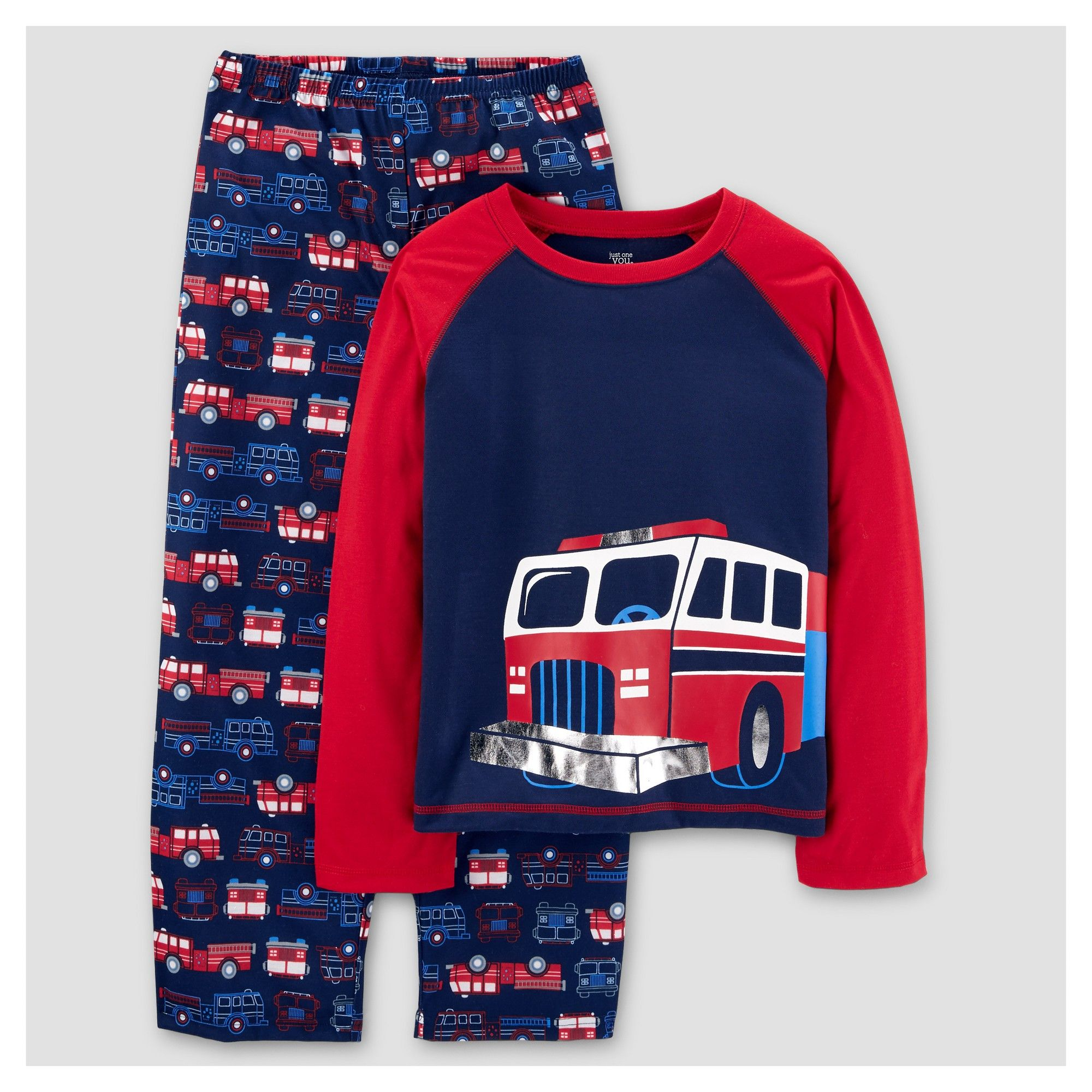 11f24aa10 Boys  2pc Long Sleeve Poly Rescue Vehicles Pajama Set - Just One You ...