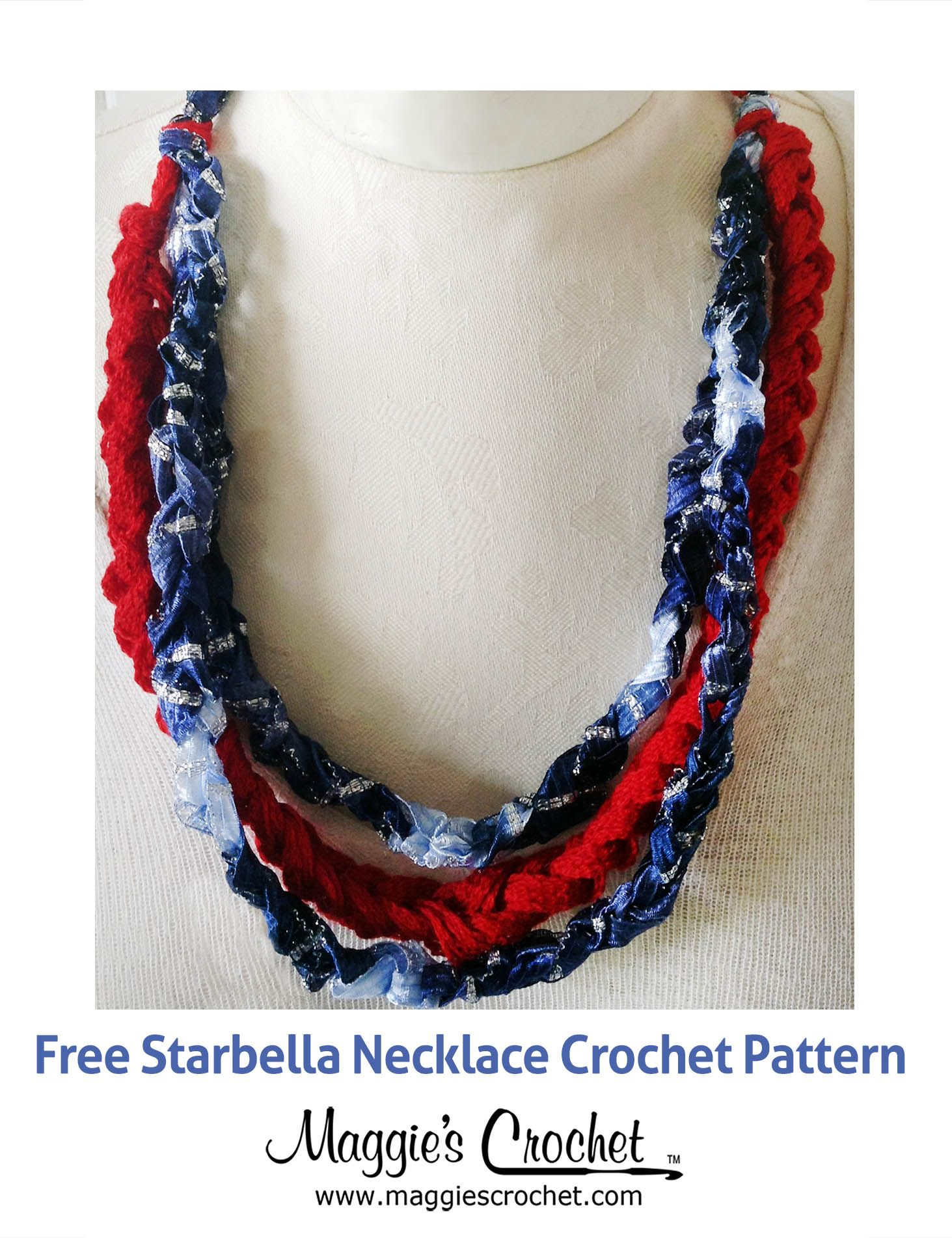 Starbella Starry Night Patriotic Necklace Free Crochet Pattern from ...