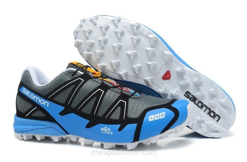 Mens Salomon Running Shoes S-Lab Fellcross 2 Jade Grey In Popularity