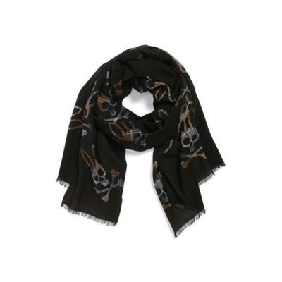 $54, Blotch Print Scarf by Psycho Bunny. Sold by Nordstrom. Click for more info: http://lookastic.com/men/shop_items/144726/redirect