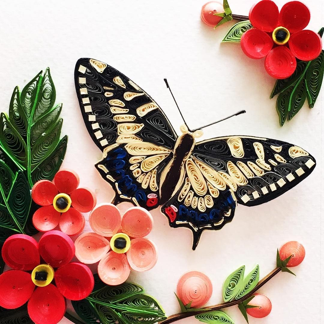 Quillingart Butterfly Swallowtail Tranhobao Paper Quilling