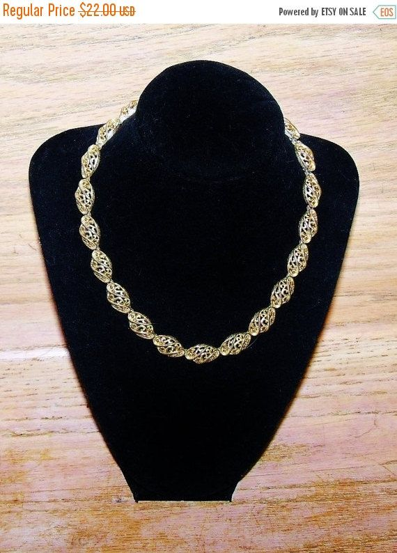 Vintage Crown Trifari Necklace Gold Tone by YoursOccasionally