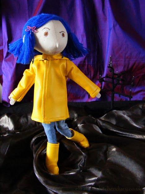 Fabric 14 Coraline Doll Pattern Free Elizabeth S Kitchen Diary Coraline Doll Doll Patterns Free Doll Pattern