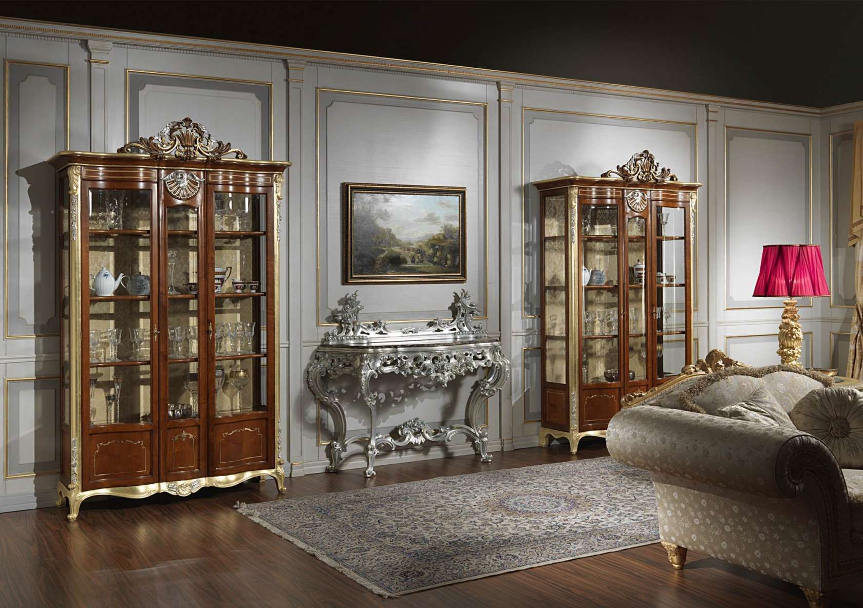 Showcase For Living Room In Classic Style Luxury Dining Room Classic Dining Room Luxury Furniture