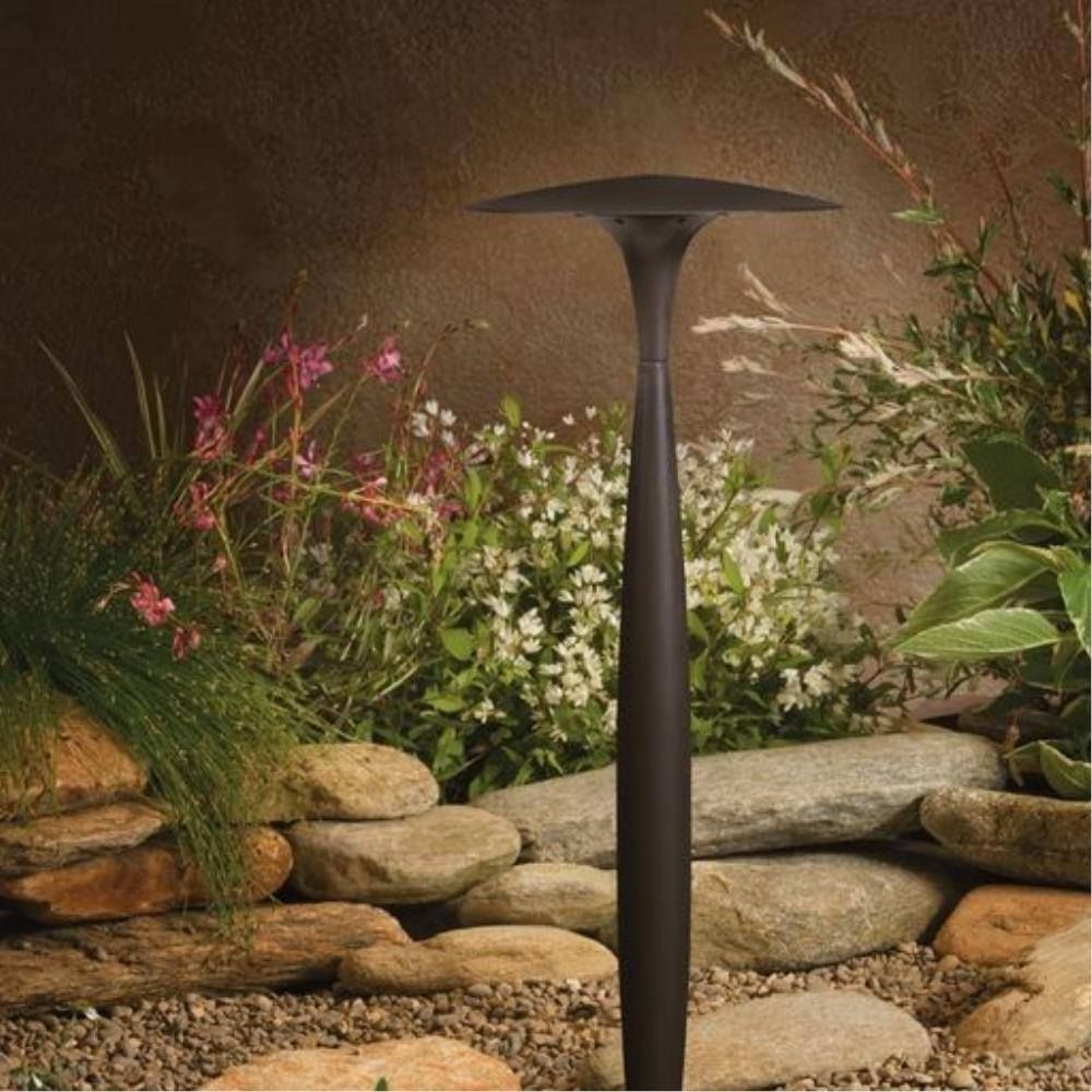 LED Broad Roof Path Light, Architectural Bronze, Updated LED Lamp ...