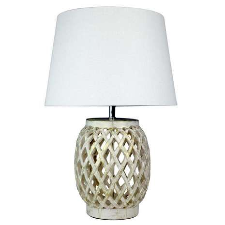 Lattice Resin Table Lamp Dunelm For The Home Table Lamp Resin