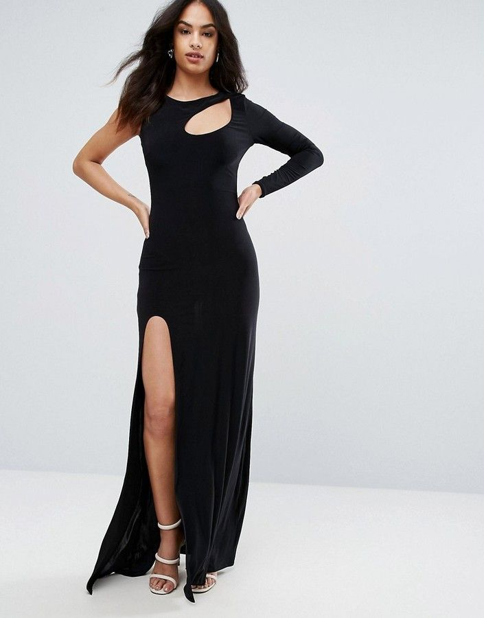 Free Shipping View Reliable Sale Online City Goddess Spliced Maxi Dress With Thigh Split EJtv3D5m0C