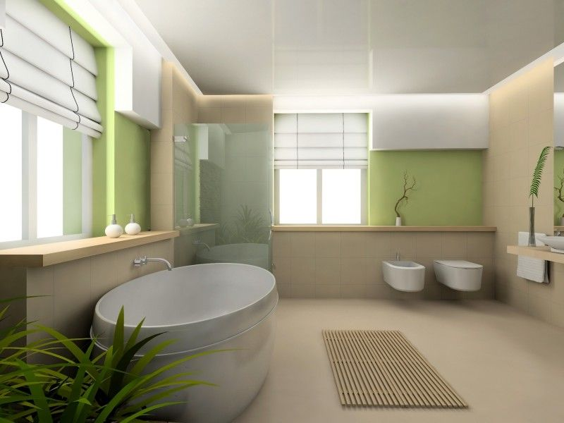modèle salle de bain zen bois