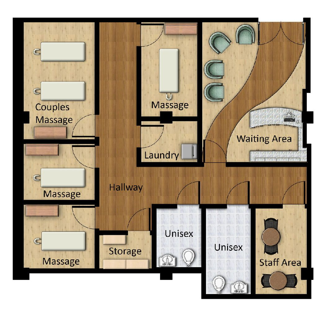 Massage spa floor plans plan this is a rendered floor plan of
