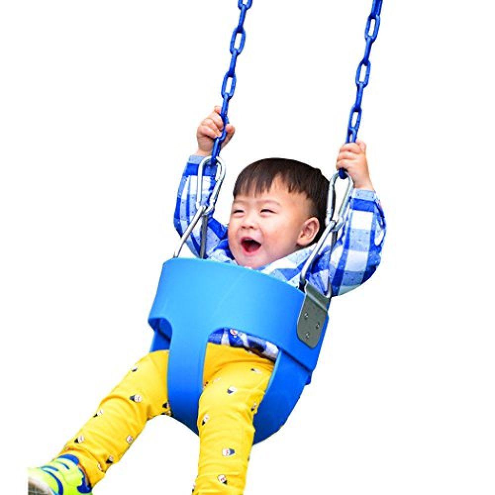 Toddler Swing Seat Kids High Back Full Bucket Tree Swing Outdoor