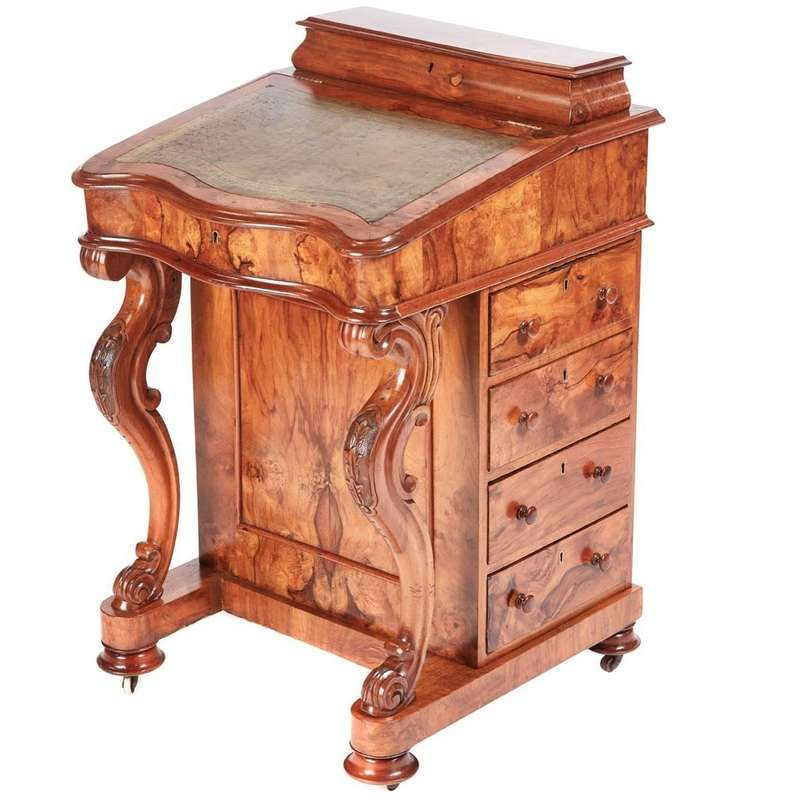 Victorian Burr Walnut Freestanding Davenport In 2020 Rustic Furniture Walnut Doors Dream Furniture