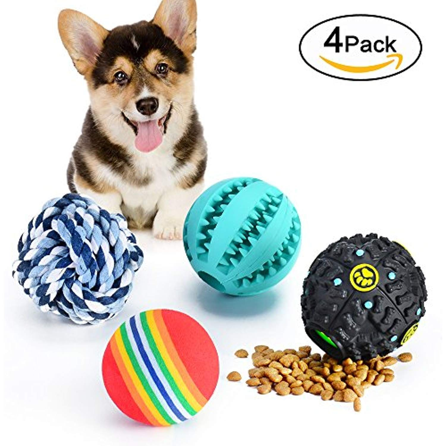 Micion Dog Treat Dispensing Toy Rubber Dog Chew Toy Dog