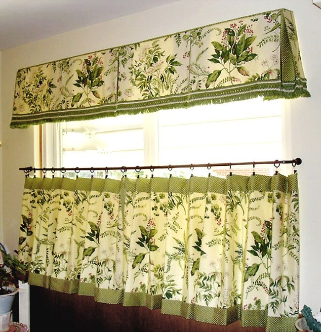 Wide Window Inverted Pleat Valance For Kitchen??