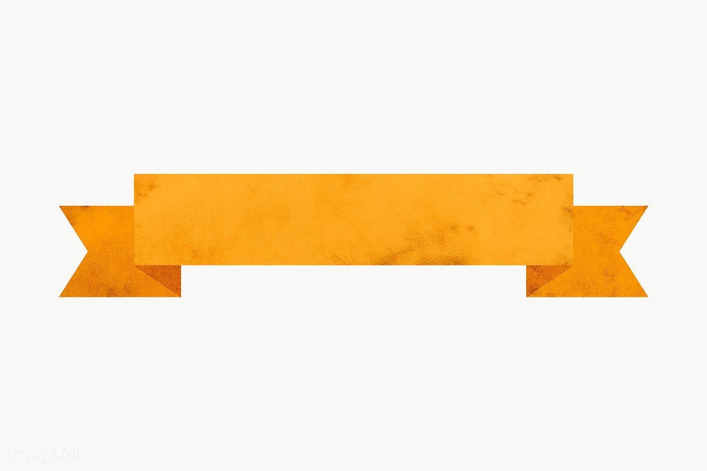 Yellow Paper Ribbon Banner Design Element Free Image By Rawpixel Com Sasi Banner Design Ribbon Banner Yellow Paper