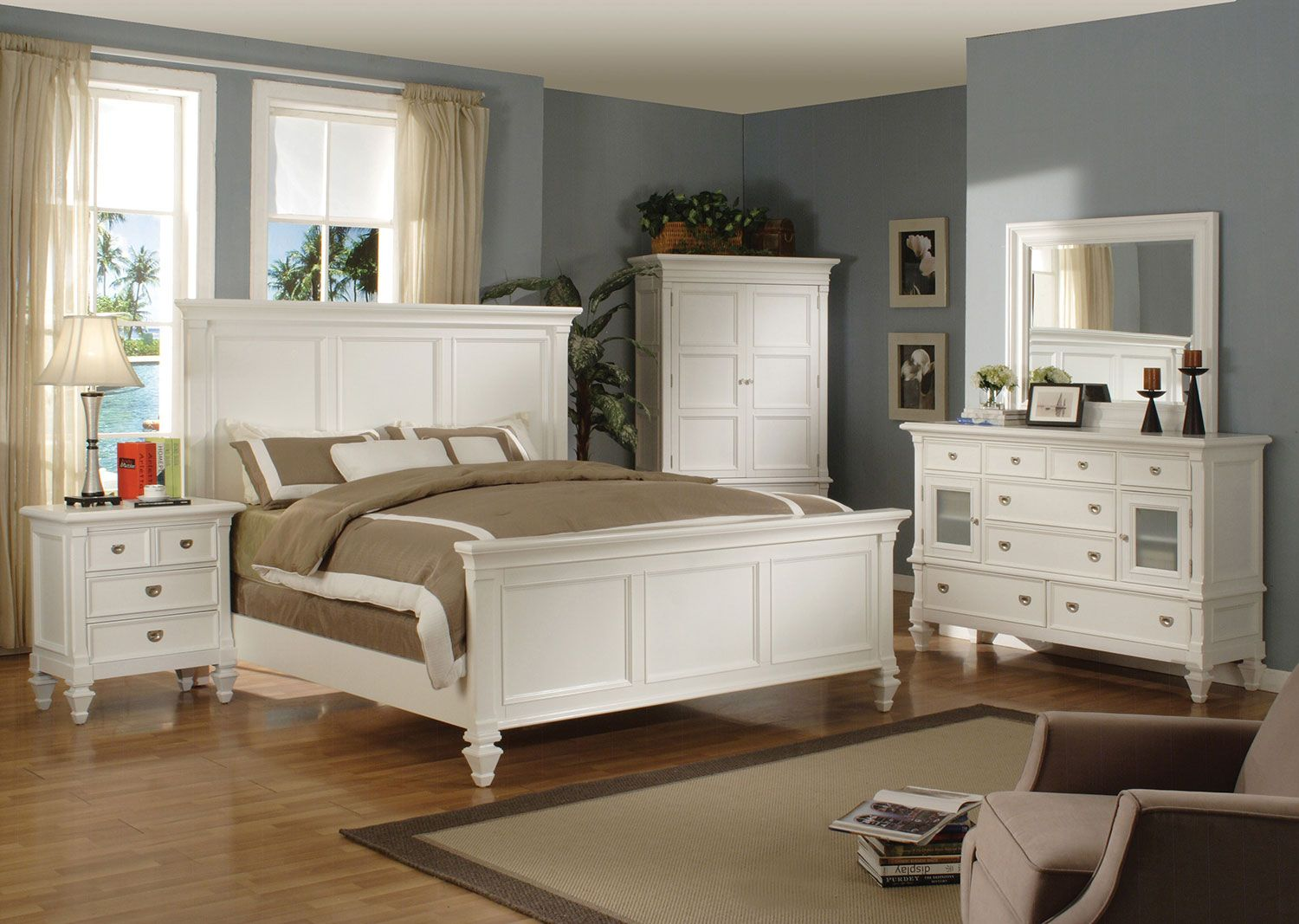 Beautiful White King Bedroom Set Concept