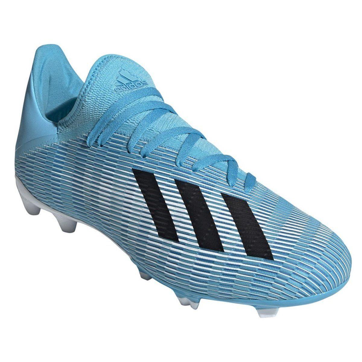 Buty Pilkarskie Adidas X 19 3 Fg M F35383 Niebieskie Szare Football Boots Adidas Adidas Football