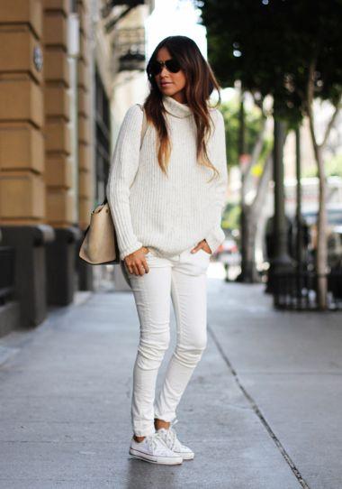 jeans con converse blancas
