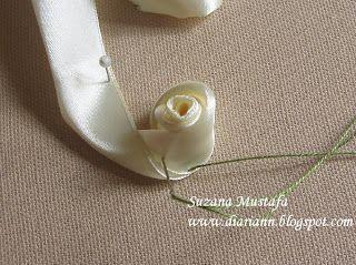 Fita Bordados - Botão de Rosa - TUTORIAL